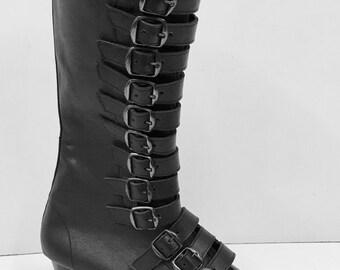 Original pike cuban heel 12 Black Buckle Boots