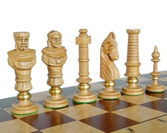 Unique Large Wooden Chess Set 60x60cm By Stylishchess On Etsy