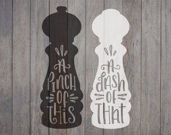 Hand Lettered, Salt and Pepper, Cricut File, Silhouette File, SVG, Cut File, Farmhouse, Rustic Cut Files, Kitchen Signs, Wood Sign, Cooking