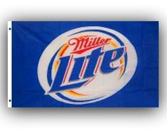 Miller Lite Beer Flag Sign