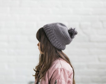 Toddler | Child Pom Hat, Alpaca and Merino Wool