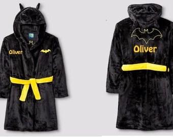 Boys Small Size 6/7 BATMAN Robe - Personalized Monogrammed