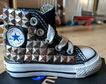 Custom Converse - Studded infant hi tops
