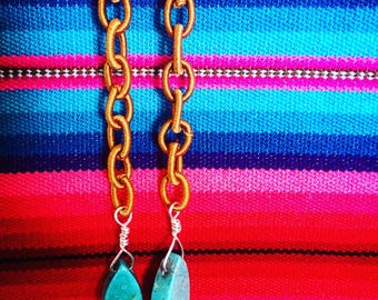 Turquoise on silk
