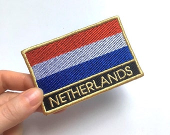The Netherlands Embroidered Flag Patch