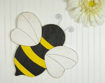 Honey Bee Decor Honey Bee Gifts Bumble Bee Decorations Bee Lovers Gift Bee Gift Bee Wall Art Honey Bee Sign Honey Bee Art Wood Wall Art