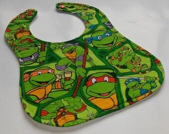 Handmade Teenage Mutant Ninja Turtle Baby Bib