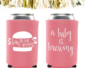 baby shower koozies etsy