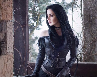 Yennefer cosplay corset with belt