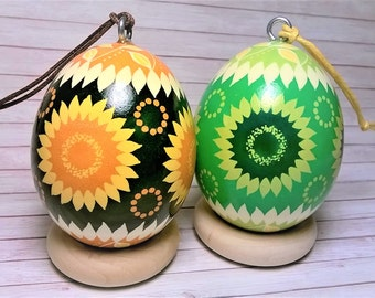 Pysanky Ornament, Sunflower ornament, Sunflower pysanky, Pysanky eggs, Ukrainian eggs, Pysanka, Easter egg tree, Eggshell ornament, Easter