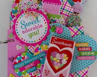 My Sweet Valentine Mini Chipboard Album Kit