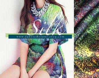 Green Silk Satin by the yard