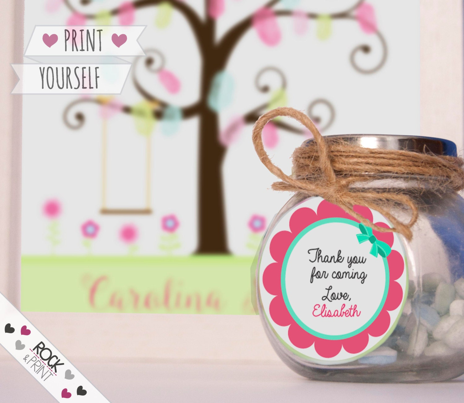 girl baby shower favor tag printable pdf first birthday