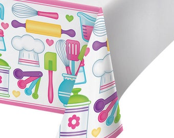 My Sweet Baker Party Tablecloth  / Baking party / Chef party/ Chef / Baking / Little Chef party / Little Chef
