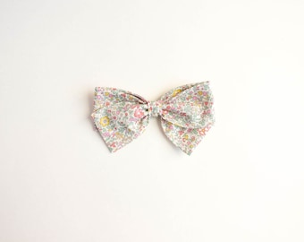 The Elizabeth, Hand Tied Fabric Bows, Baby Girl, Toddler, Girls Fabric Bow Headband or Hair Clip