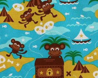 Lillestoff Monkey Island 95% Organic Cotton Jersey 5 Spandex Per Metre