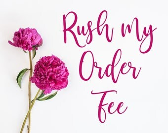 Rush My Order - 3-4 Business Days