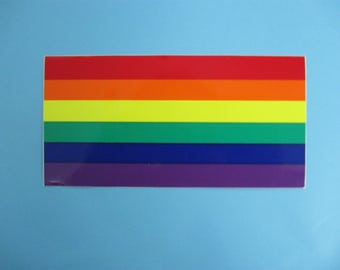 Rainbow Flag Bumper Sticker (1160-10-05)