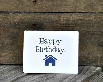 Happy Birthday Realtor Card Set, Real estate cards, Realtor cards, Birthday cards, Realtor popby - Set of 5 cards - Horizontal