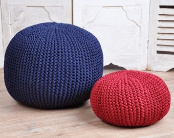 measure angefertigter round pouf in your desired size and the colour of your choice