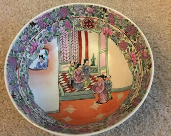 Large Chinese Bowl with mark on bottom