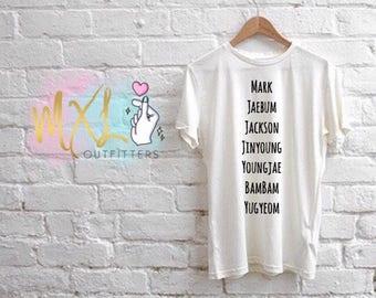 GOT7 member names T-Shirt