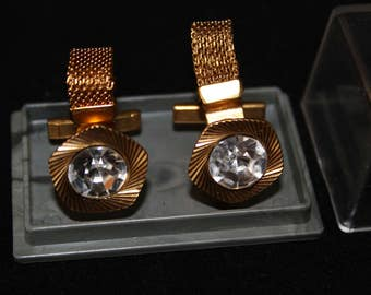 Cufflinks vintage Soviet of the USSR gold plated