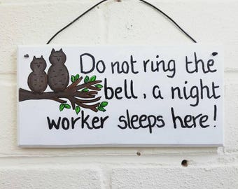 Do not disturb sign home decor owl gifts wood sign wood plaque handmade handpainted gift idea