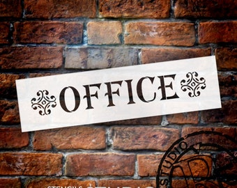 Office - Classic - Word Art Stencil - Select Size - STCL1842 - by StudioR12