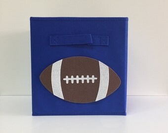 Kids Storage Bin, Kids Football, Sports Decor, Kids Decor, Fabric Storage  Cube