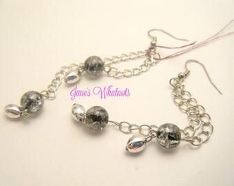 Silver chain earrings - Dangle Earrings