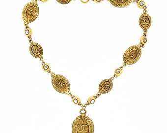 Vintage Chanel Necklace Gold