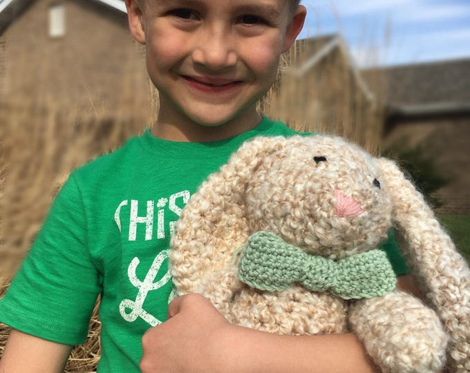 Crochet Stuffed Rabbit, Cute Tails the Rabbit, stuffed rabbit, crochet rabbit, toy rabbit, Easter rabbit, stuffed bunny, bunny rabbit, bunny