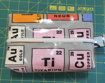 Periodic table oilcloth wash bag