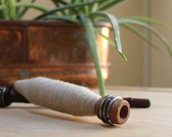 Wooden antique Weaving Bobbin Industrial Decor Loom bobbin Vintage Loom Spinning weaving textile