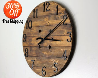 Digital wall clock etsy Cool digital wall clock