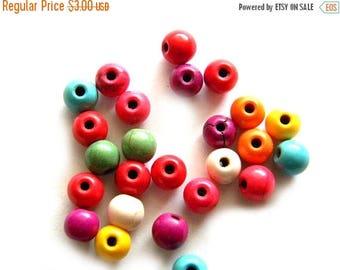 HALF PRICE 50 Round Magnesite Beads 6mm