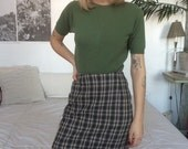 60s Vintage Cropped Cashmere Sweater