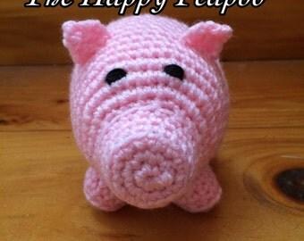 Small Stuffed Pig Crochet Pattern