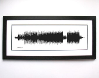 Nothing - Song Print, Framed Print, or Canvas - Pop Rock Music - Sound Wave Art Poster