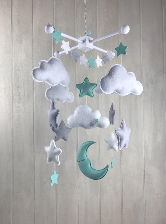 baby mobile moon mobile cloud mobile star mobile large. Black Bedroom Furniture Sets. Home Design Ideas