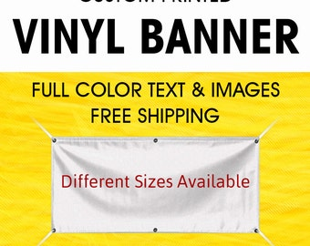 Custom Vinyl Banner Custom Banner Vinyl Banner with True Solvent Ink Signs Grommets ( Free Design By Bannerbuzz )