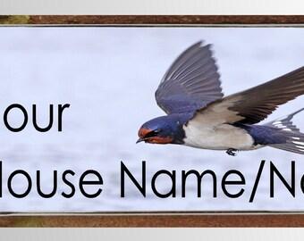 Large modern acrylic & aluminium house sign plaque door number