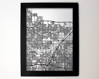 North Las Vegas Nevada Laser Cut Map, North Las Vegas Street Map, North Las Vegas  Map Art, North Las Vegas Home Decor, Office Decor