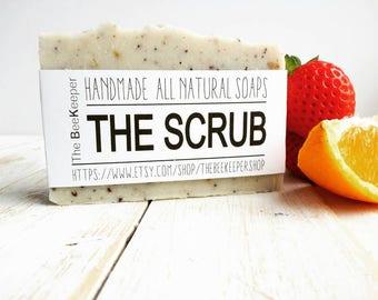 Scrub Soap, Exfoliating Soap, Body Scrub, Cold Process Soap, Fullers Earth Soap, Organic Soap, Detox Soap, Natural Soap, Fragrance Free Soap