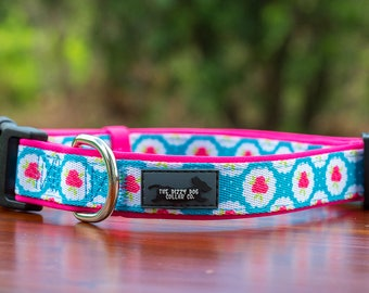 Pink Roses Dog Collar - Ready to Ship