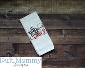 All You Need Is Love Wine | Embroidered | Kitchen Towel