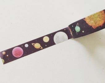 Space Galaxy Washi Tape, Cosmos Planner Washi, Stars Planner Tape, Decorative Tape, Crafting Tape, Gift Wrapping, Planner/Scrapbook Supplies