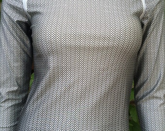 NEW! TAFI Chainmail Armor Shirt - Tight-fitting Compression Top - 2017 3D Printed for Fashion, Costume or Fitness