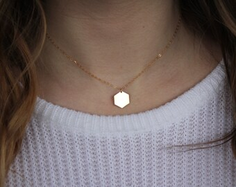 Gold Filled Honeycomb Choker Necklace